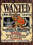 Wanted Louigi L Obster Tin Sign