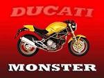 Ducati Monster Vintage Metal Sign