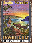 Honolua Bay North Shore Maui Tin Sign