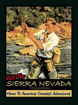 Sierra Nevada Mountains Vintage Metal Sign