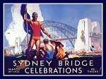 Sydney Bridge Celebrations Vintage Metal Sign