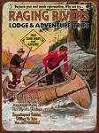 Raging River Lodge Vintage Metal Sign