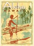 Aloha Hawaii Metal Sign