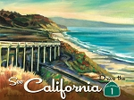 California Highway 1 Vintage Metal Sign