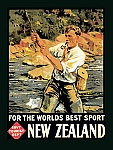 New Zealand Fishing Vintage Tin Sign