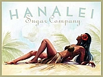 Hanalei Sugar Company Tin Sign