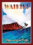 Waikiki Playground of the Pacific Tin Sign