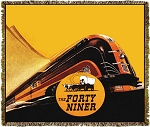 UP Forty Niner Train Railroad Tapestry