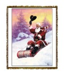 Holiday Here Comes Santa Tapestry