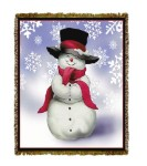 Holiday Smilin' Snowman Tapestry