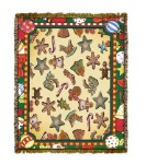 Holiday Gingerbread Men Tapestry