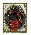 Holiday Wreath Tapestry