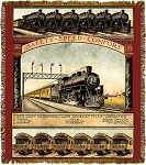 UP Steam Train Railroad Tapestry
