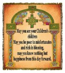 Irish Wedding Blessing Tapestry