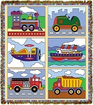 Planes Trains Etc Tapestry