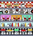 The Fifties Diner Tapestry
