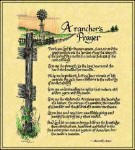 Ranchers Prayer © Ron Knox Tapestry
