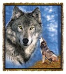 Lodge Eastern Wolf Tapestry