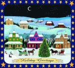 Holiday Winter Scene Tapestry