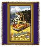 Pacific Coast Highway Artist Tapestry