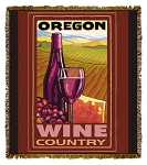 Oregon Wine Country Artist Tapestry