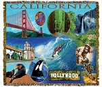 California Hollywood Tapestry