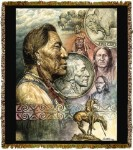 Native American Five Cent Piece Tapestry