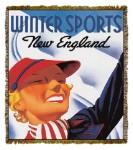 Travel Poster Winter Sports New England Tapestry