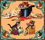 Victorian Cats Tapestry