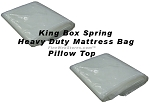 King Box Spring Heavy Duty Plastic Mattress Bags