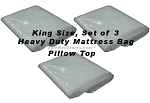 King Size Set of 3 Heavy Duty Mattress Bags