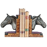 Racing Horse Head Bookends