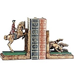 Standing Hunt Horse With Hounds Bookends
