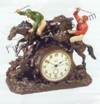 Steeplechase Clock Antique Style
