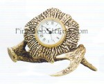 Antler Clock Antique Style