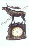 Stag Clock Antique Style