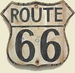 Route 66 Vintage Wood Sign
