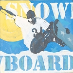 Snowboard Vintage Tin Sign