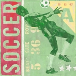 Soccer Player Vintage Tin Sign