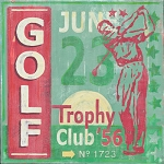 Golf Trophy Club 56 Vintage Tin Sign