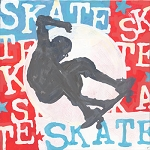 Skateboard Vintage Tin Sign