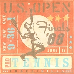 Tennis Player Vintage Tin Sign