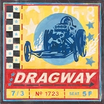 Dragway Drag Car Racing Vintage Tin Sign