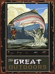 The Great Outdoors Fishing Vintage Tin Sign