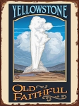 Yellowstone Old Faithful Vintage Tin Sign