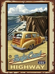 Pacific Coast Highway Vintage Tin Sign
