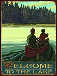 Welcome To The Lake Vintage Tin Sign