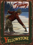 Yellowstone National Park Fishing Vintage Tin Sign