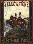 Yellowstone National Park Horse Riding Vintage Tin Sign