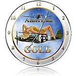 American Gold Metal Clock